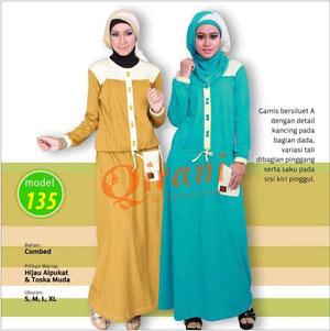 Kaos Gamis Qirani A 135 Butik Online Tas Batik Modern Sepatu