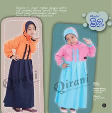 Kode QK 32 Harga: Rp. 155.000 Warna: orange muda dan pink muda