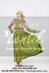 gamis-batik-modern-lentik-l70-hijau