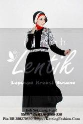 gamis-batik-modern-lentik-l70-hitam-turqis-385rb-rev