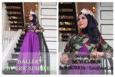 Gamis-Pesta-Ballery-Purple