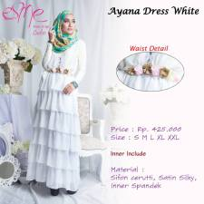 gamis modern ayana white 425rb