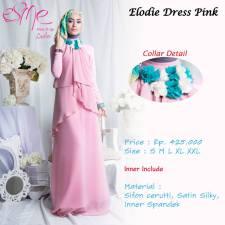 gamis modern elodia pink 425rb