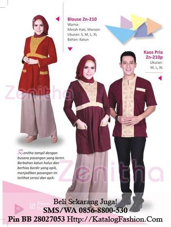 Blouse Zn-210 Warna : Merah Hati, Maroon Ukuran : S, M, L, XL Bahan : Katun Harga : 155.000 Kaos Pria Zn-210p Ukuran : M, L, XL Harga : 149.000